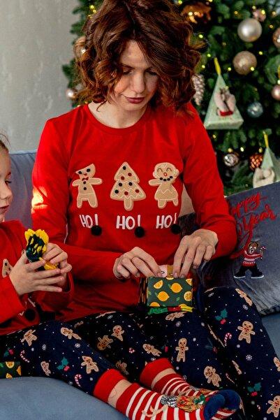 Katia&Bony Ginger Breadman Kadın Pijama Takımı - Kırmızı