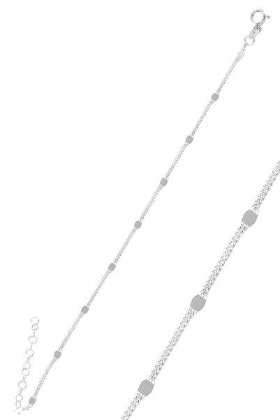 Söğütlü Silver Gümüş Pullu Gurmet Zincir Bileklik