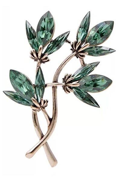 Esra Pamir Yapraklı Ağaç Dalı Broş