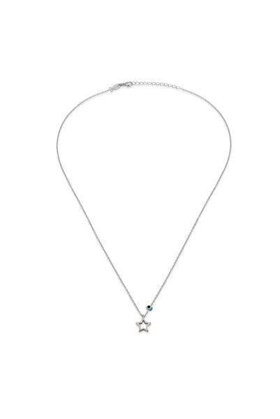 KURSHUNI Kadın Beyaz 925 Ayar Gümüş Capella Kolye KR582-2