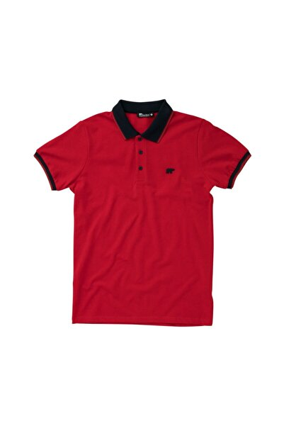 Bad Bear Pınstrıpe Pıque Polo Kırmızı Polo Tişört