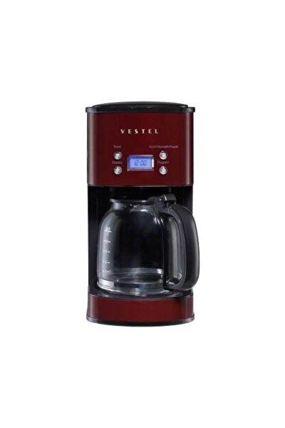 Vestel Retro Bordo Filtre Kahve Makinası 1000w 12 Fincan Kapasite
