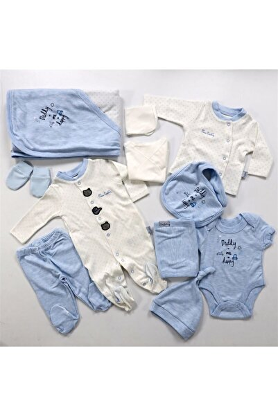 Pierre Cardin Baby Beyaz Mavi 10'lu Puantiyeli Hastane Çıkışı