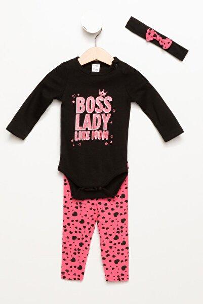DeFacto Siyah Kız Bebek 3'lü Set