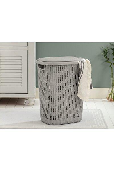 Madame Coco Rubicon Çamaşır Sepeti - Soft Gri - 34,5x58 Cm