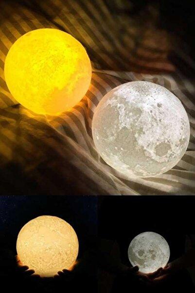 TechnoSmart 3d Ay Gece Lambası Dekoratif Küre Led Başucu Lambası (7 Farklı Renk)