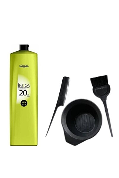 İNOA Loreal Oksidan Krem 20 Vol %6 1000ml + Saç Boyama Seti