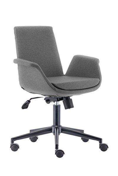 Sandalye Online Marisol Çalışma Sandalyesi Ofis Sandalyesi Bilgisayar Sandalyesi Siyah Ayak Koyu Gri