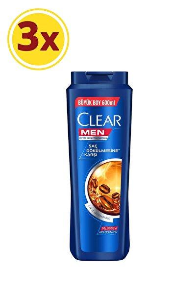 Clear Men Saç Dökülmesine Karşı Şampuan 600ml X3