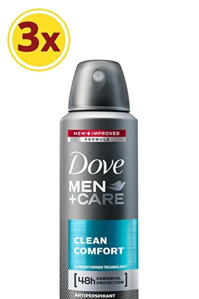 Dove Men Erkek Deodorant Sprey Clean Comfort 150 ml X3