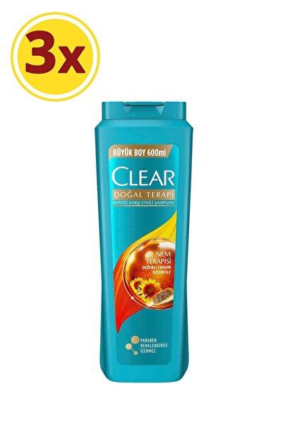Clear Nem Terapisi Kadın Şampuan 600 ml X3