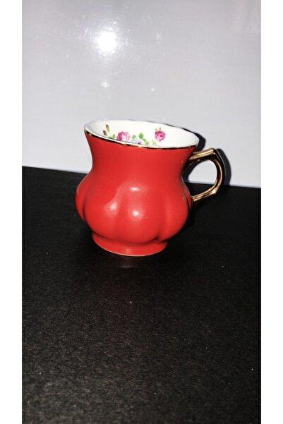 AROW Porselen Tekli Kupa Kırmızı