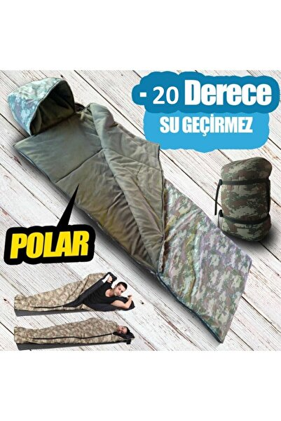 Kozan Kamuflaj Kışlık Uyku Tulumu Askeri Tulum -20 Derece