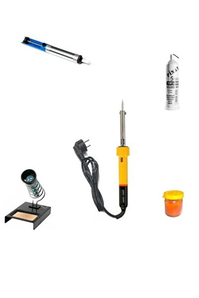 morponi 80w Lehim Makinesi + Leyim Tel + Pasta + Pompa + Stand 5 Özel Parça Hobi Seti Elektronikçi Seti