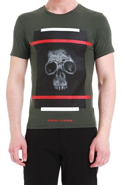 Efor Erkek Haki Slim Fit Spor T-shirt Ts 750