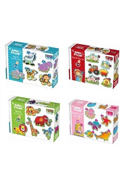 DIYTOY Baby Puzzle Ilk Hayvanlarım 4'lü Set