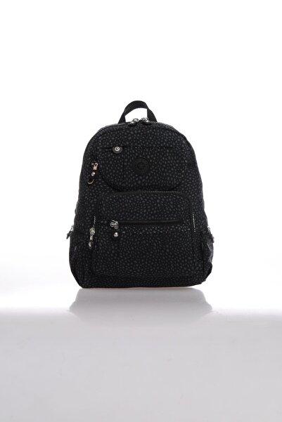 SMART BAGS Kadın Siyah Puantiyeli Sırt Çantası Smbk3085-0091