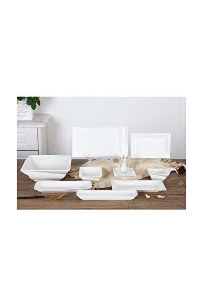 ACAR Beyaz 45 Parça Porselen Kahvaltı Seti