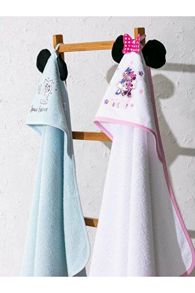 LCW HOME Minnie Mouse Unisex Yetişkin Beyaz J5E Bebek Havlu & Bornoz