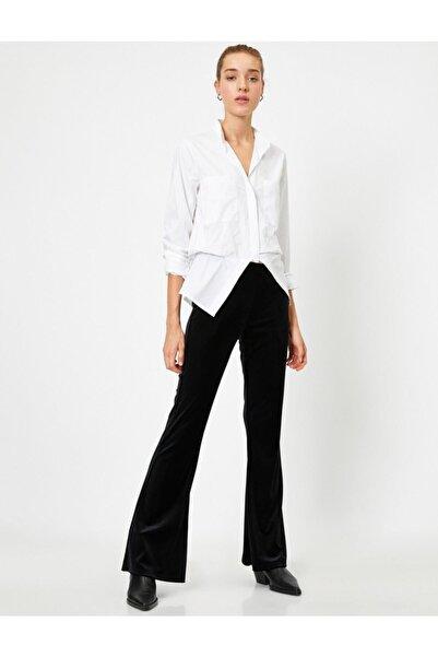 Koton Kadın Siyah Bol Paça Pantolon