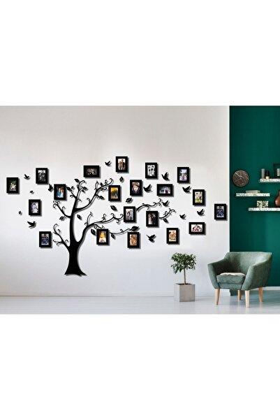 FERMAN HEDİYELİK Ahşap Soy Ağacı 20 Çerçeveli - Siyah