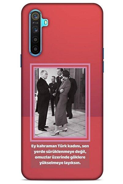 Lopard Açık Kırmızı Oppo Realme 6i Uyumlu Atatürk Koruma Kabı