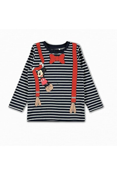 name ıt Erkek Çocuk Askı Detaylı Mickey T-shirt