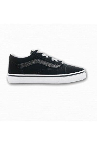 Vans Unisex Çocuk Siyah Old Skool Glitter Sidestripe Sneaker