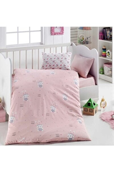 Minteks 7 Parça Bebek Uyku Takımı - Pink Rabbit