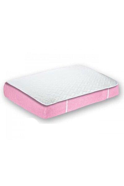 Sevi Bebe Beyaz Pembe Lüks Yatak Koruyucu Çarşaf Alez 70x135 Art-249