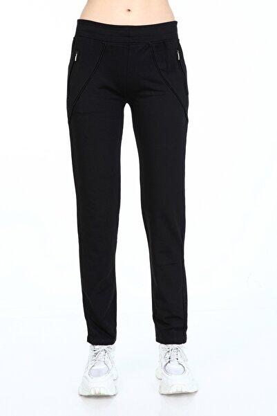 Rodi Jeans Kadın Siyah Şerit Cepli Düz Paça Eşofman Altı Ty21kb092034