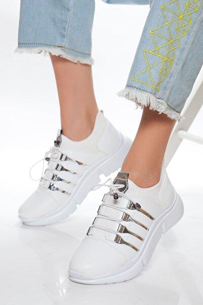 derithy Kadın Beyaz Sneaker