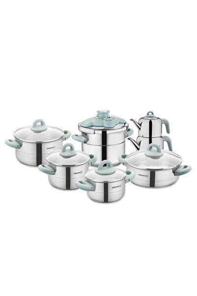 KORKMAZ Hera Minta 14 Parça Çelik Çeyiz Seti A1708-1