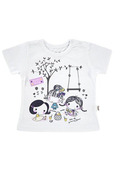 Civil Baby Kız Bebek Beyaz Tişört