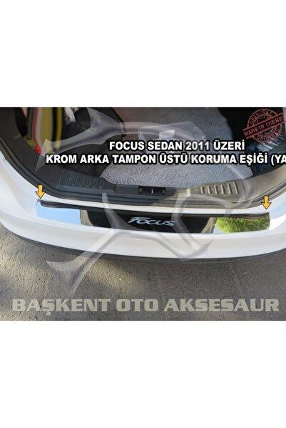 Başkent Oto Dizayn Ford Focus Sedan Formlu Krom Arka Tampon Üstü Koruma Eşiği 2011-2018 ( Yazılı )