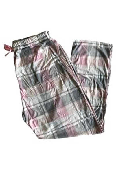 Kadın Pembe Battal Boy Pamuklu Pijama Altı