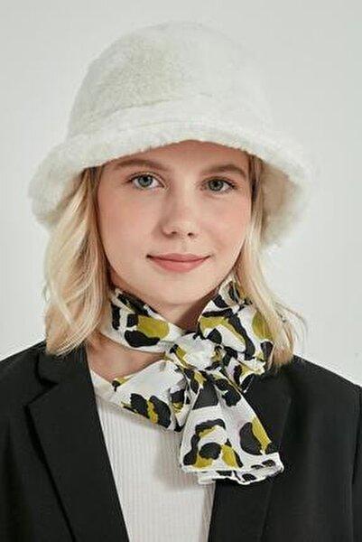 12839-1 Beyaz Renk Bucket Şapka