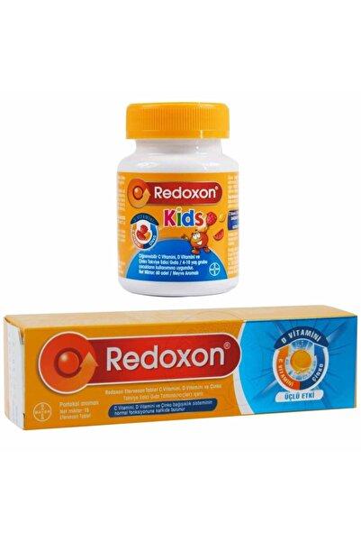 Redoxon Üçlü Etki Efervesan 15 Tablet + Kids 60 Çiğnenebilir Tablet