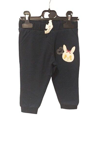 Cigit Kız Bebek Lacivert Tavşan Aplikeli Alt 0-4 Yaş Eşofman Altı