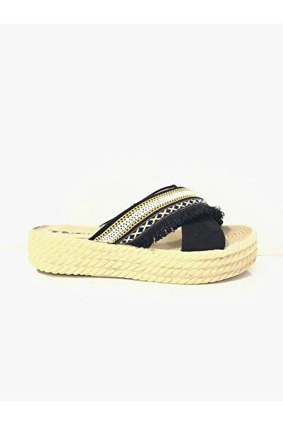 PUNTO Kadın Günlük Hasır Taban Sandalet 570016