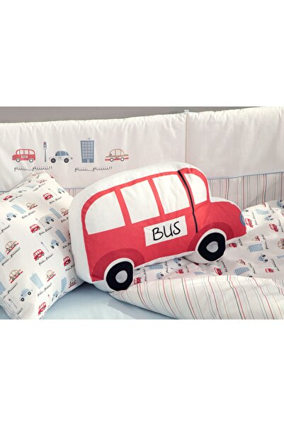 English Home Mini Bus Dekoratif Yastık 41x26 Kırmızı