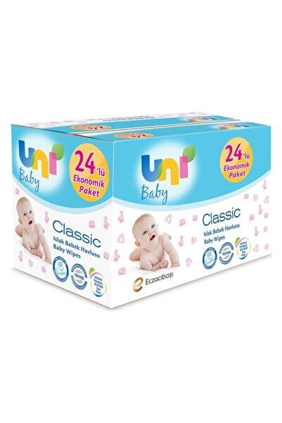 Uni Baby Classic Islak Havlu 24'lü Fırsat Paketi / 56x24 (1.344 Yaprak