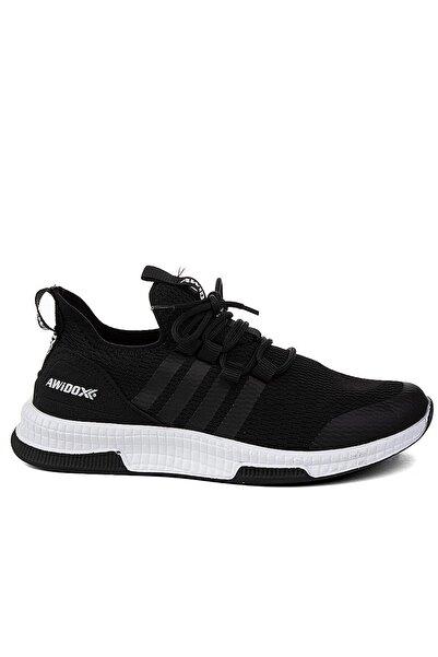 Marsetti Siyah Beyaz Hafif Triko Spor Ayakkabı