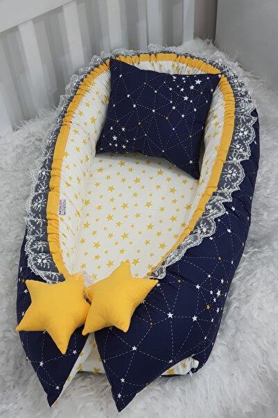 Babynest Sarı Ve Lacivert Yıldız Desen