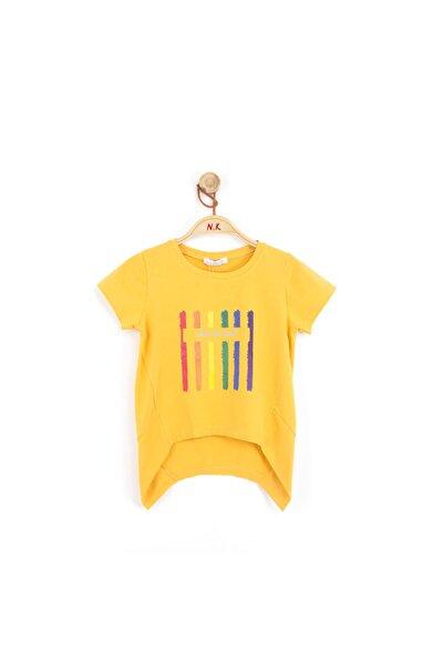 NK Kız Çocuk Rainbow Arkası Uzun Pamuklu Tshirt