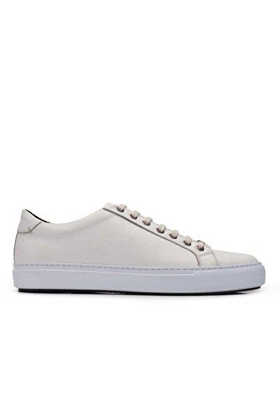 Nevzat Onay Hakiki Deri Beyaz Sneaker Erkek Ayakkabı -10222-