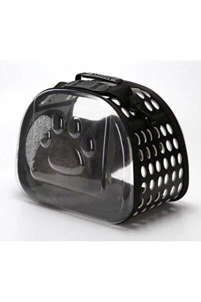 Miapet Şeffaf Kedi Köpek Taşıma Çantası 42 X 26 X 35 cm Siyah