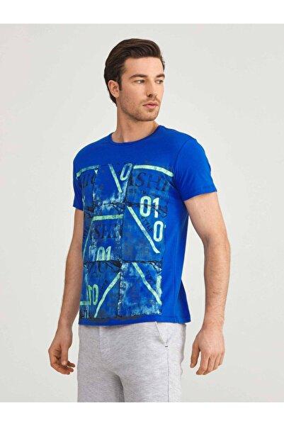 MCL Bisiklet Yaka %100 Pamuk Slim Fit Baskılı Tişört