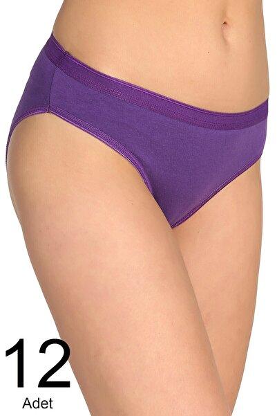 Tutku Kadın Mor 12'li Paket Bikini Külot Elf568t0635ccm12 0635