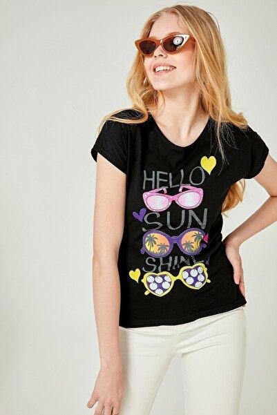 boutiquen Siyah Baskılı Tshirt B-ts01 B-ts01